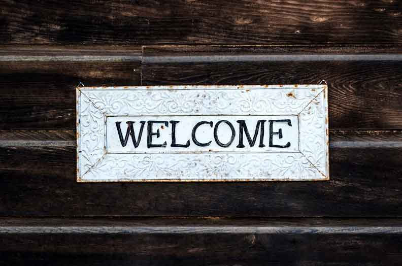 Welcome Sign - Youth Ministry